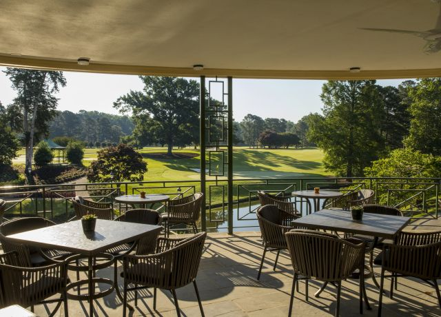 Gold Course Clubhouse Grille patio at Colonial Williamsburg