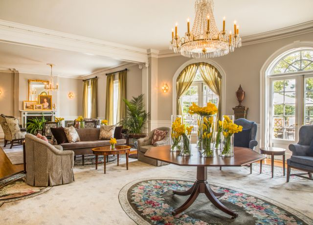 large elegant hotel lobby