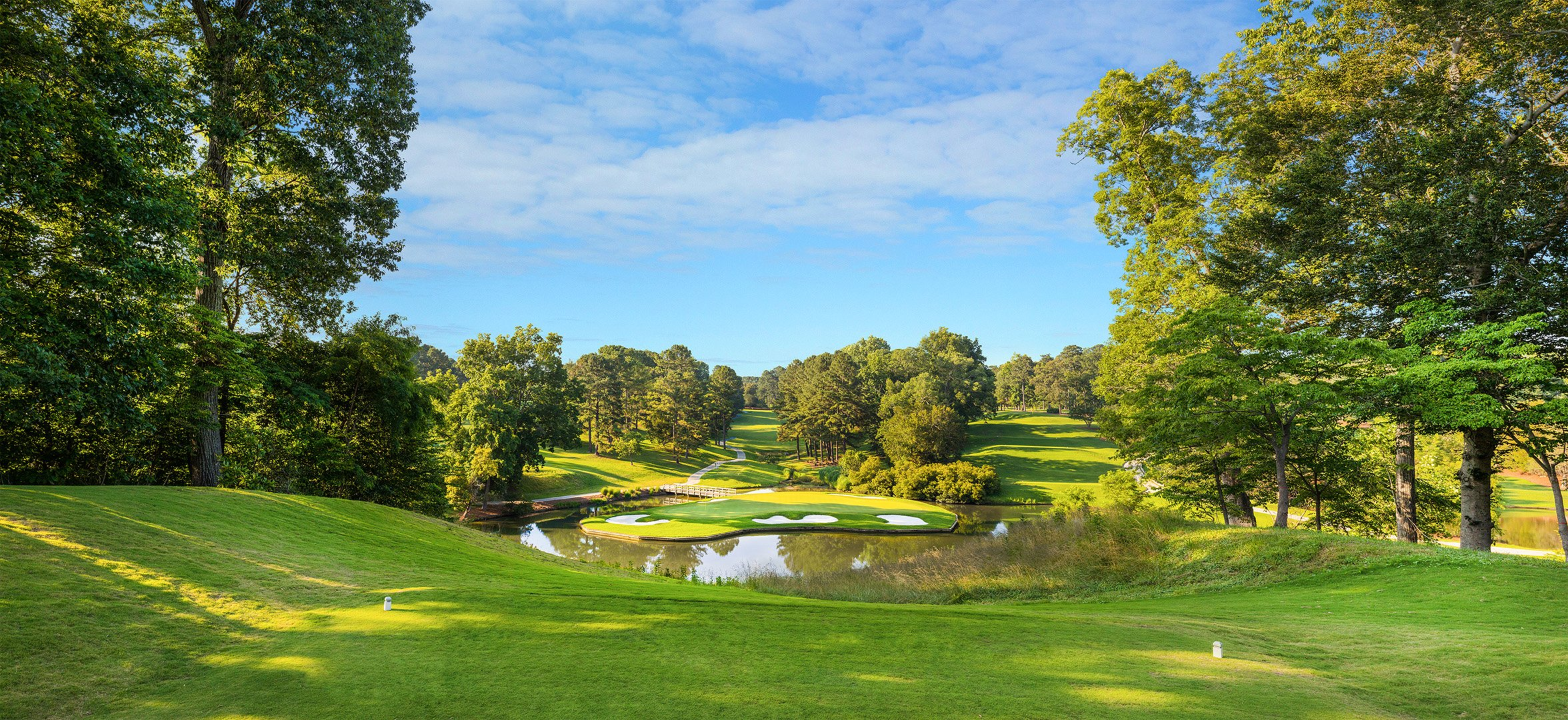 Panoramic view of Gold Course at Colonial Williamsburg, VA