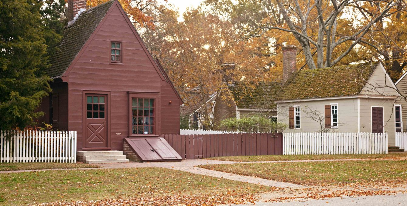 Authentic Colonial Houses in Colonial Williamsburg, VA | Colonial