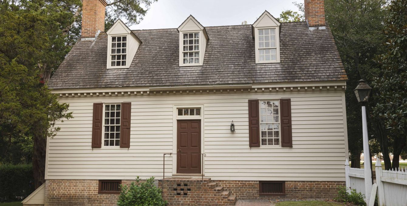 Authentic Colonial Houses In Colonial Williamsburg, VA