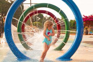 little girl at Splash Park
