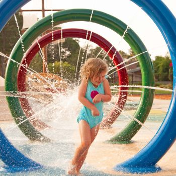 little girl at Splash Park