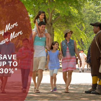 Family of Six Visits Colonial Williamsburg, VA/Promo Banner