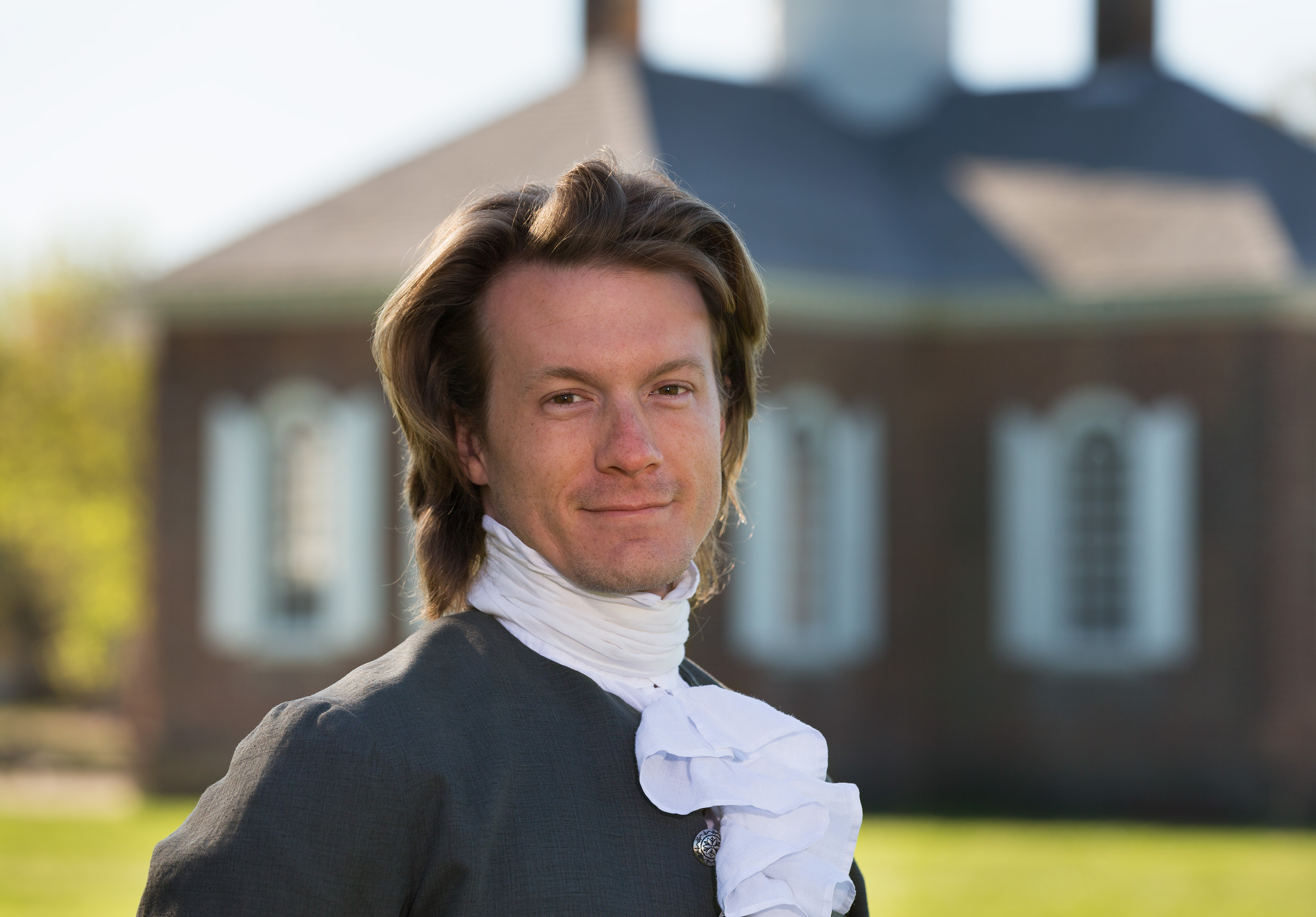 Actor dressed up as Thomas Jefferson