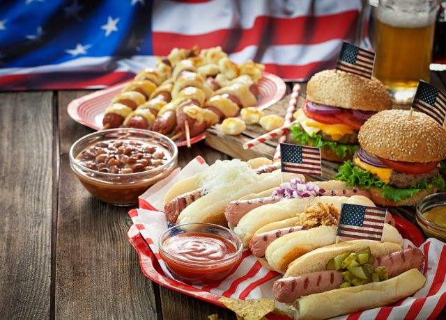 Fourth of July Barbecue featuring Hotdogs & Hamburgers