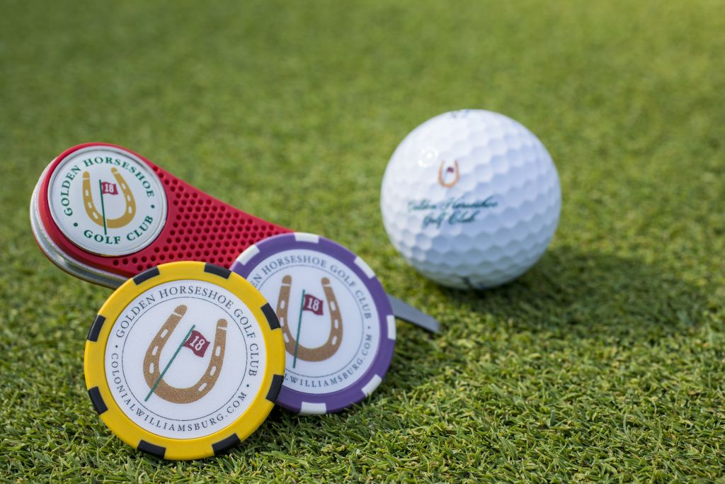 golf tees and balls